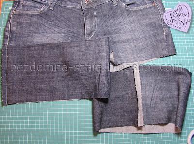 4 - skracanie spodni - tutorial - krok po kroku