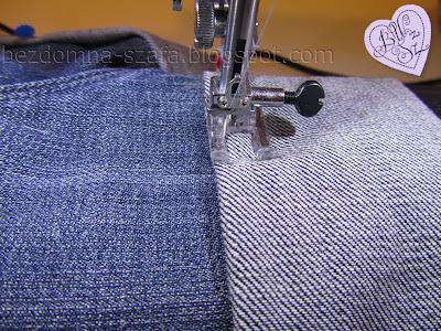 9 - skracanie spodni - tutorial - krok po kroku