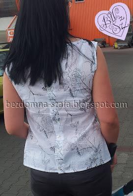 prosta bluzka na ramiączkach
