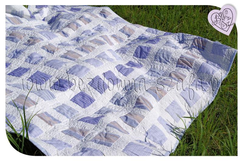 quilt, shirt patchwork, recycling, recykling, narzuta z koszuli