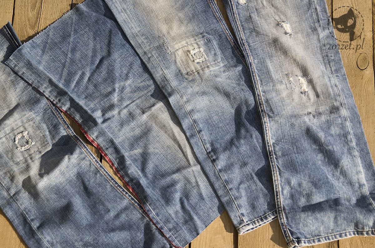 nogawki, torba dżins recykling, jeans bag recycling