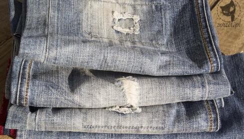 torba dżins, jeans bag recycling - nogawki