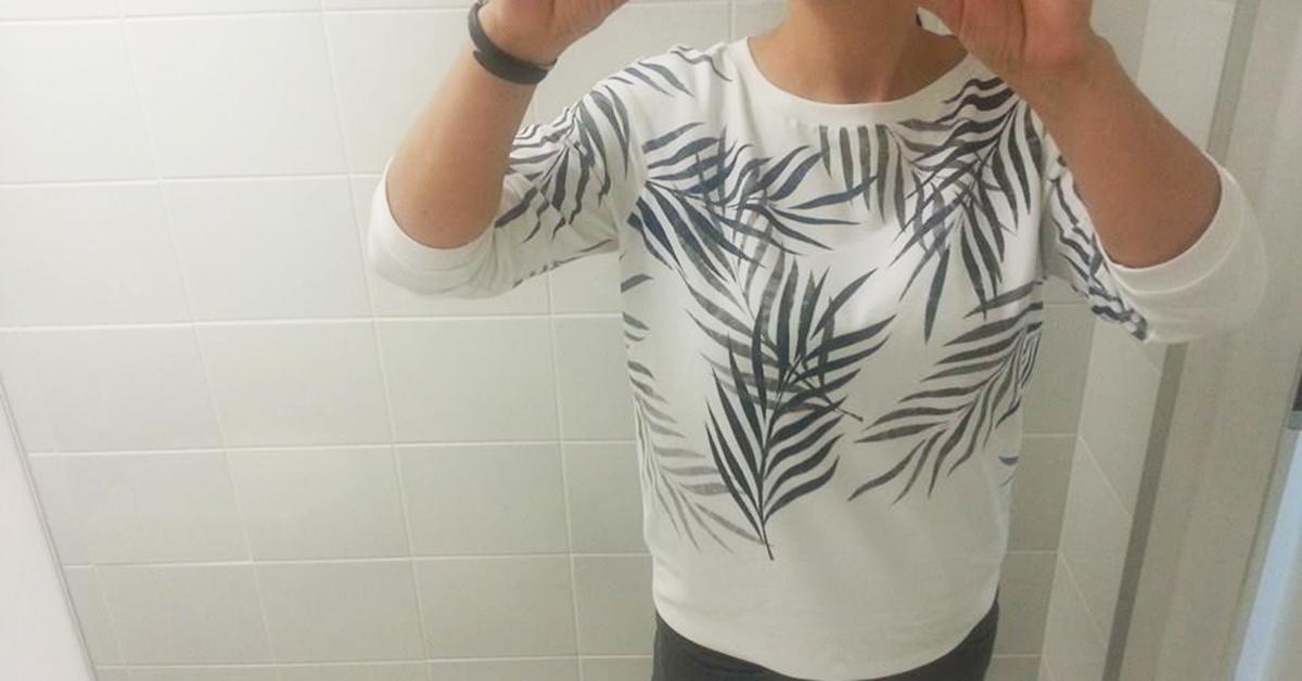 bluzka dresowa w palmy