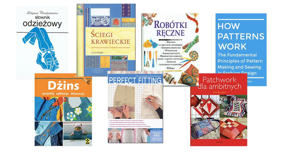 Książki odo nauki szycia i konstrukcji
