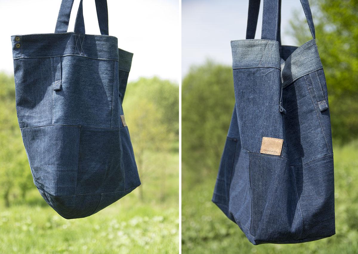 dwie torby na zewnątrz