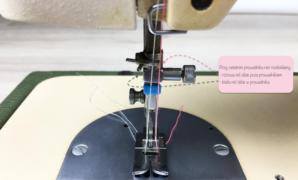 Maszyna do szycia nawlekanie podwójnej igły