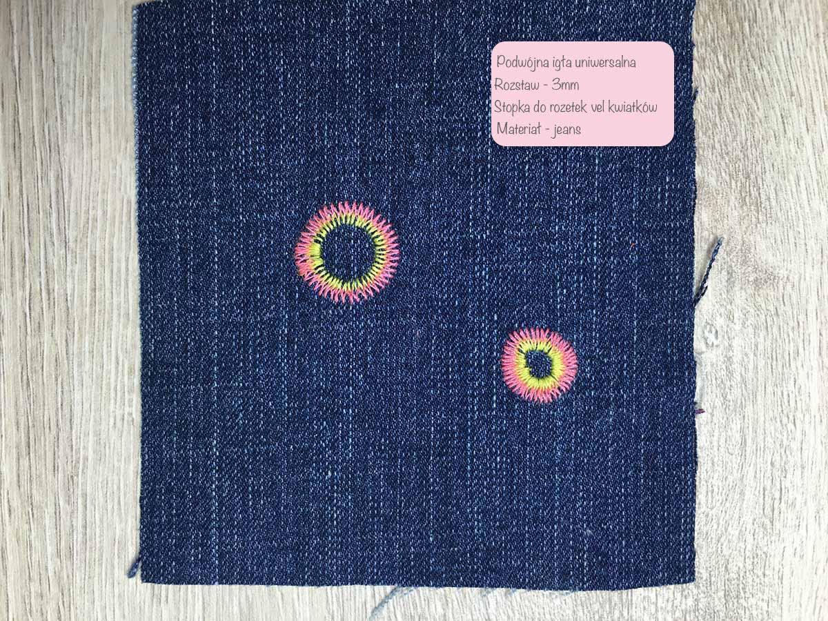 Podwójna igła - stopka do kwiatków i rozetek
